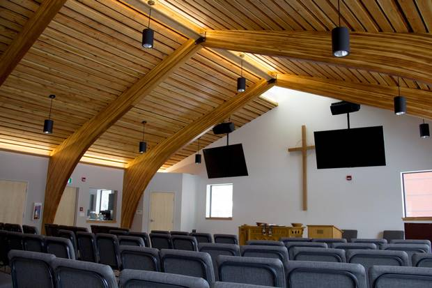 In return for the land, the housing agency built a new, smaller church for the Westmount Presbyterian congregation.