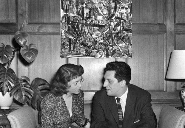 The 25-year relationship of Joan Mitchell and Jean-Paul Riopelle, pictured in Chicago in 1959, is laid out at the Musée national des beaux-arts du Québec in Quebec City.