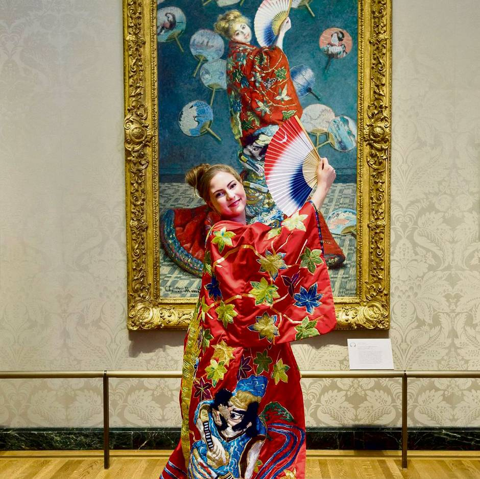 6f242f994 The Boston Museum of Fine Arts offered visitors a chance to wear a kimono  this past July, drawing charges of racism. (Boston MFA Facebook page)
