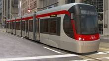 State-of-the-art streetcars, designed by Canadian transport manufacturer Bombardier Inc., will begin entering service in 2013 in Toronto with the promise of a better customer experience. (Bombardier Inc.)