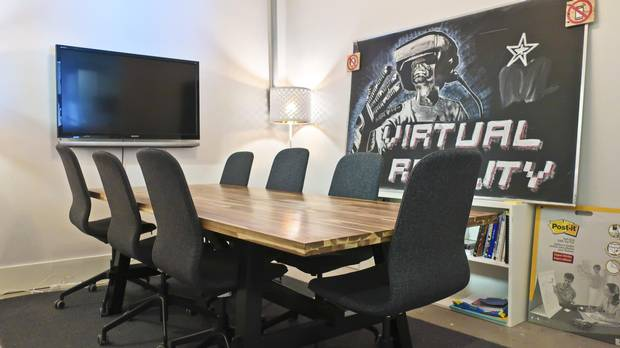 The 6,100-square-foot facility has plenty of creative spaces but also a boardroom for more conventional business operations.