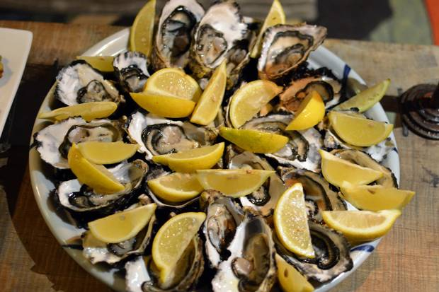 Among the snacks served at the Freycinet Experience Walk's ecolodge: a perfect platter of oysters newly plucked and shucked from the bay.