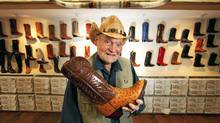 Clem Gerwing of Alberta Boot Co. is hoping to present a pair to the Duke and Duchess of Cambridge when they're in town in July. (Todd Korol for The Globe and Mail/Todd Korol for The Globe and Mail)