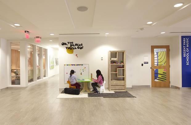 Daniels Spectrum's Regent Park development features spaces where kids can hang out.