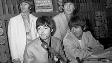 The Beatles attending a press conference at Maple Leaf Gardens prior to their concert. (Fred Ross/The Globe and Mail)