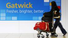 A passenger arrives at the South Terminal of Gatwick Airport in southern England. (Luke Macgregor/Luke Macgregor/Reuters)