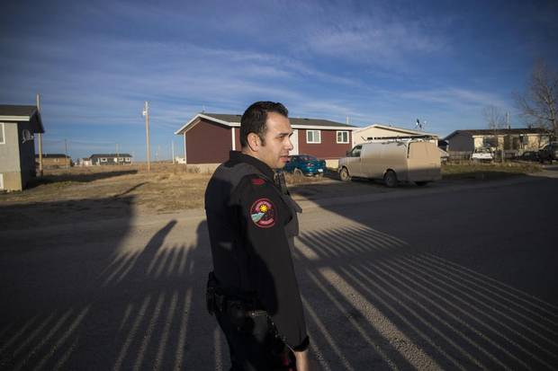 Constable Rayan Najjar with the Blood Tribe Service in Stand Off, Alta.