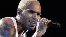 An October, 2011, photo of singer Chris Brown performing in concert in Los Angeles. (Danny Moloshok/Reuters)