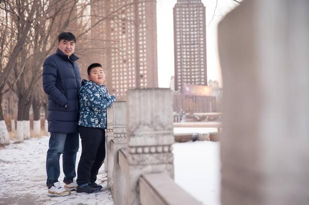 Yu Haoran and his son Yu Xiao. Yu Haoran, the founder of a technical training school in northeastern China's Jilin province, has already begun laying plans to educate his oldest son, Yu Xiao elsewhere.