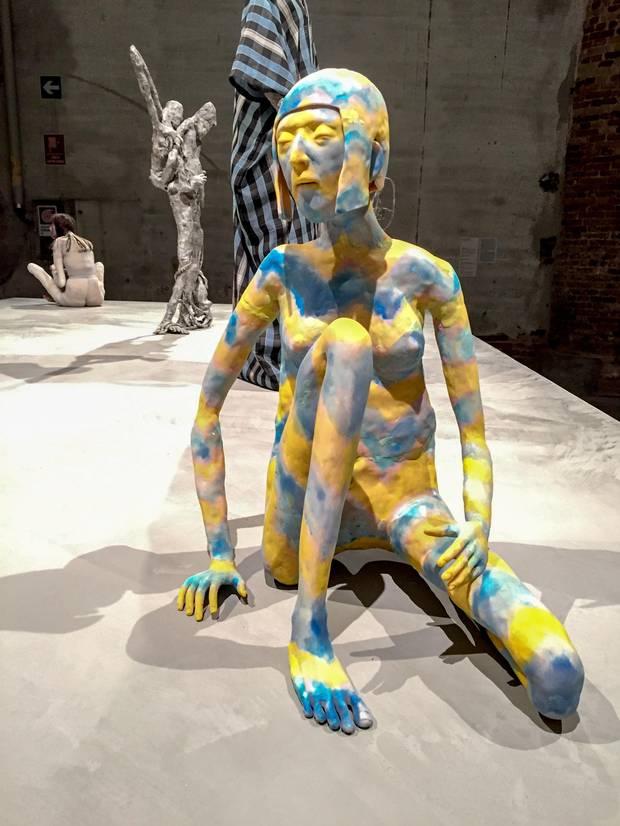 A figure by Francis Upritchard.
