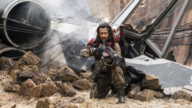 Baze Malbus (played by Jiang Wen) is seen in Rogue One: A Star Wars Story, Disney's first 'stand-alone' film in the series.