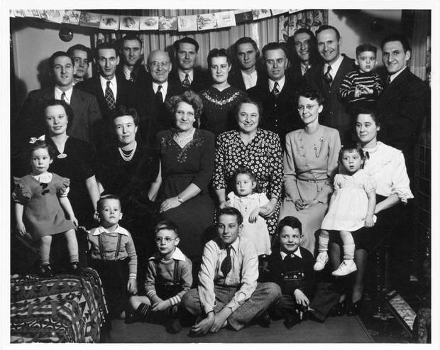 The Klippert clan gathers for Christmas in 1948. Everett, back row, second from left, was 22 at the time.