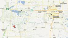 Two hundred evacuation notices have been delivered to residents in the area of Lindale, Alta., west of Edmonton. (GOOGLE MAPS)