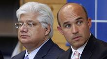 RIM's Mike Lazaridis, left, and Jim Balsillie (Mike Cassese/Reuters)