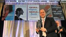 Author Andrew Preston accepts the Charles Taylor Prize for Literary Non-Fiction for his book Sword of the Spirit, Shield of Faith, at the King Edward Hotel in Toronto, March 4 , 2013. (J.P. MOCZULSKI FOR THE GLOBE AND MAIL)
