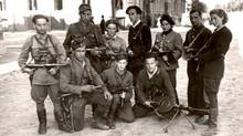 Vitka Kovner, a Jewish woman who fought Nazis in the 1930s, is pictured on the far right. (Handout/Yad Vashem archive/Handout/Yad Vashem archive)