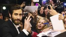 Jake Gyllenhaal arrives for the gala presentation of the film End of Watch at the Toronto International Film Festival, September 8, 2012. (MARK BLINCH/REUTERS)