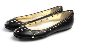 Sparkly Jimmy Choo leather flats.