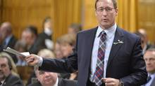 Justice Minister Peter MacKay answers a question in the House of Commons on March 24, 2014. (ADRIAN WYLD/THE CANADIAN PRESS)