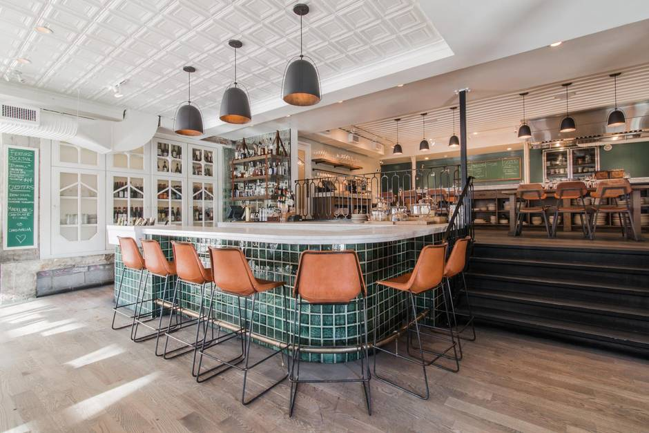 One Of Frank Architecture And Interiorss Projects The Parisian Inspired Pigeonhole That Topped EnRoutes Best New Restaurants List In 2015