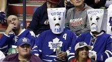 This picture, taken during last week's game against the Panthers, says it all about the Leafs' 2013-14 season. (Lynne Sladky/The Associated Press)
