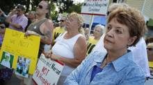 Protesters from across the Niagara Region held a rally outside the Greater Niagara General Hospital in Niagara Falls on Wednesday, July 6, 2011 to voice their displeasure with the way the hospitals are being run. (Peter Power/The Globe and Mail/Peter Power/The Globe and Mail)