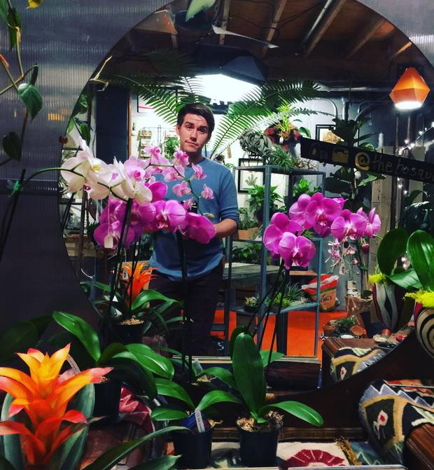 The Monochrid Gallery, a gallery/venue/studio/startup incubator, is home to businesses such as Michael Lanier's the Bosque plant shop.