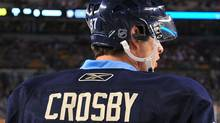 Pittsburgh Penguins captain Sydney Crosby and his struggles to recover from a concussion was one of this year's top sports stories. (Photo by Brian Babineau/NHLI via Getty Images) (Brian Babineau/2011 NHLI)