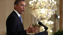 U.S. President Barack Obama speaks during a news conference in the East Room of the White House in Washington, January 14, 2013. (JASON REED/Reuters)