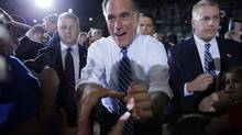 A Mitt Romney win is likely to draw cheers from business. (BRIAN SNYDER/REUTERS)