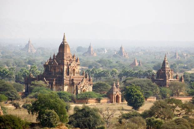 A handful of Bagan's 3,000 temples, dating from the 9th to 13th centuries.
