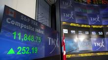 The screens at the TMX Broadcast Centre in Toronto show the closing numbers of the TSX on July 3, 2012. The Ontario Securities Commission has revised its to-do list of priorities for the year ahead to include a review of the mechanics of the proxy voting system after a group of large institutional shareholders launched a campaign to get the issue back on the regulator's agenda. (Matthew Sherwood For The Globe and Mail)