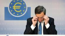 Mario Draghi's address left the door open for renewed market intervention. (Hannelore Foerster/Bloomberg)