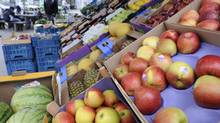 Fruits and vegetables are offered at a grocer's shop in Hamburg in this file photo. (FABIAN BIMMER/REUTERS)