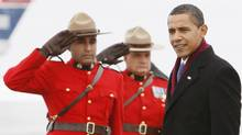 Nearly a year after Barack Obama's first official visit to Ottawa, pictured, Canadians' affection for the U.S. President shows no signs of waning, a new poll says. Charles Dharapak/Canadian Press (Charles Dharapak)