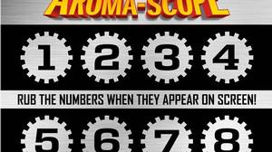 The Aroma-Scope card: Movie-goers wil be given a card and can scratch-and-sniff odours on cue during the film.