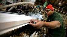 Alton Joseph, a production worker at Acrylon Plastics (John Woods/John Woods for The Globe and Mai)