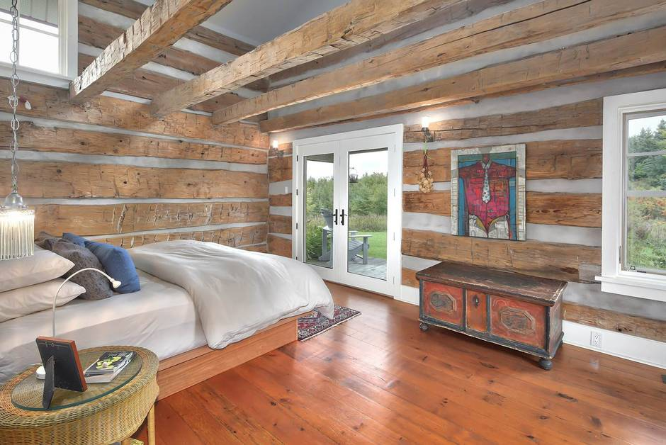 The Master Suite Is Built From One Of Original Cabins Alan Shisko