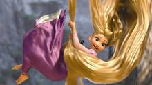 Rapunzel (voiced by Mandy Moore) is the main character in Walt Disney Pictures' animated feature Tangled.