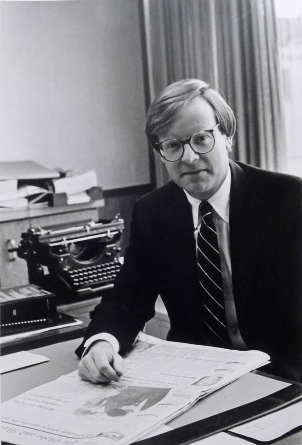 Globe columnist Jeffrey Simpson is shown in 1988.