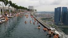 Feel like you're swimming in mid-air at the Marina Bay Sands Hotel. (Catherine Dawson March/The Globe and Mail)