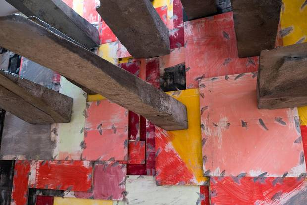 British sculptor Phyllida Barlow's installation is among the many works by established and emerging contemporary artists at this year's Biennale di Venezia art show.