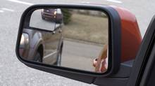 Ford's blind spot mirror has a convex spotter mirror aimed directly at the driver's blind spot. (Ford)