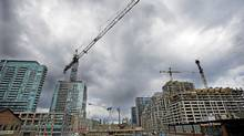 Workers are seen at a condo development in the Liberty Villiage area of Toronto. (Kevin Van Paassen/The Globe and Mail/Kevin Van Paassen/The Globe and Mail)