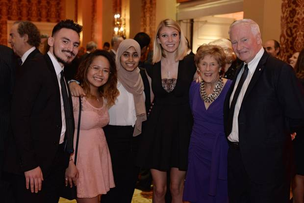 Horatio Alger scholars with Sharon Johnston and The Right Honourable David Johnston.