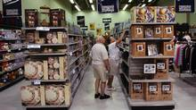 Customers browse a Liquidation World store in Brantford, Ont. (Kevin Van Paassen/The Globe and Mail)