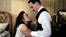 "Keira Knightley and Michael Fassbender in a scene from ""A Dangerous Method"" (Courtesy of eOne Films)"
