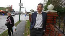 Pacific Arbour president Peter Gaskill stands on the corner of West 30th Avenue and Dunbar Street in Vancouver on Tuesday. (Jeff Vinnick/The Globe and Mail)