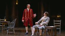 Colm Feore (left) and Mike Shara in The Beaux' Stratagem, the first Restoration comedy mounted at Stratford since 1995. (Michael Cooper/Stratford Festival)
