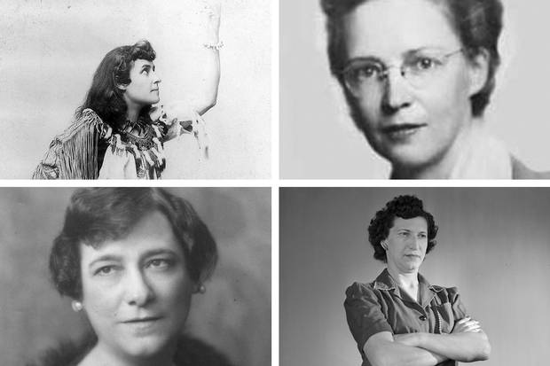 The other four finalists for the banknote were, clockwise from top left: E. Pauline Johnson/Tekahionwake (1861-1913), Mohawk poet; Elsie MacGill (1905-1980); Bobbie Rosenfeld (1904-1969), Olympic athlete; and Idola Saint-Jean (1880-1945), Quebec suffragette.
